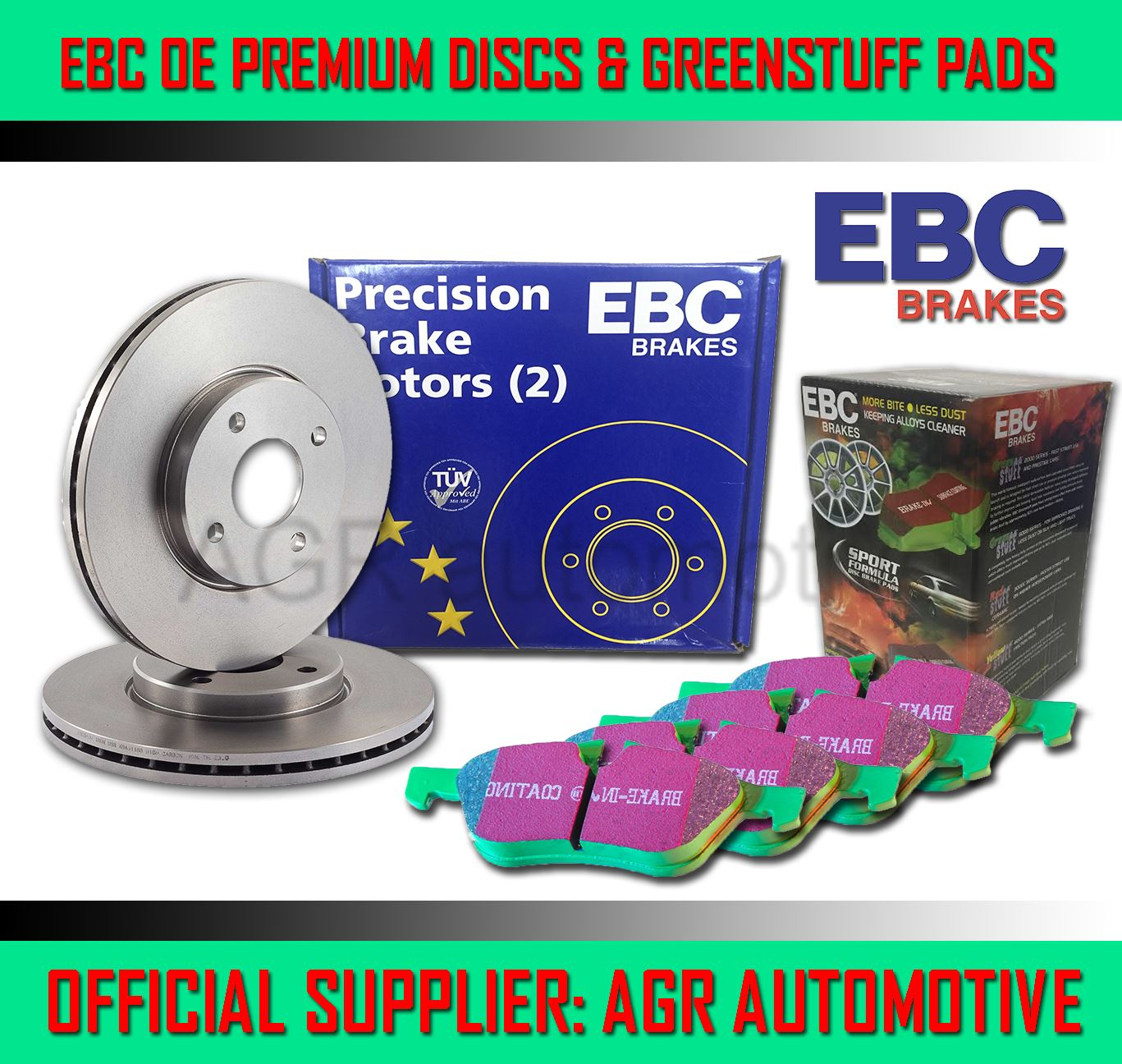 OEM SPEC REAR DISCS AND PADS 247mm FOR PEUGEOT 307 CC 2.0 2003-08