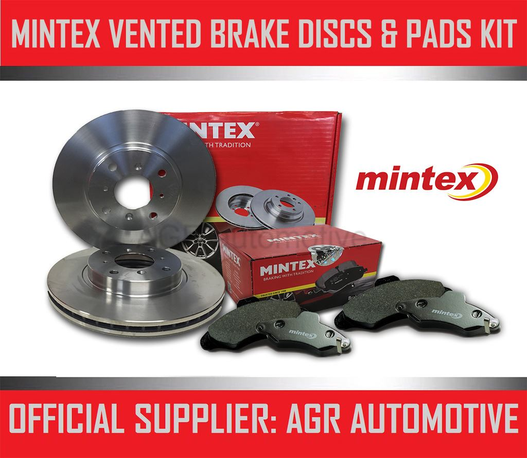 MINTEX FRONT DISCS AND PADS 256mm FOR VOLKSWAGEN POLO 1.6 TD 90 BHP 2009-14