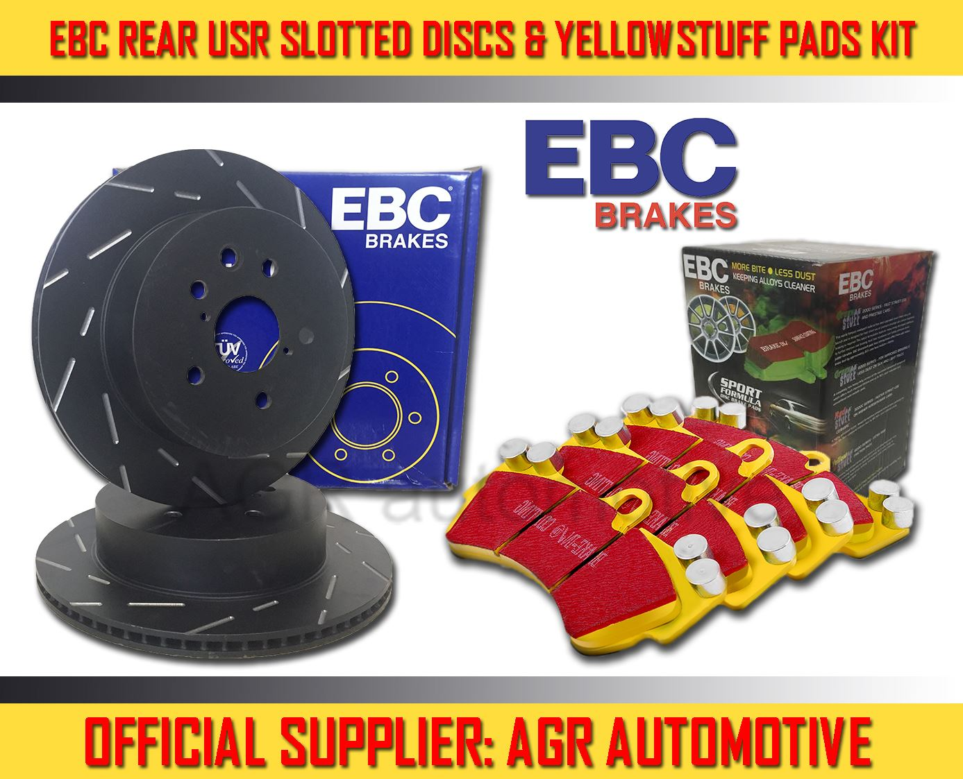 EBC REAR DISCS AND PADS 232mm FOR CATERHAM 7 2 1990