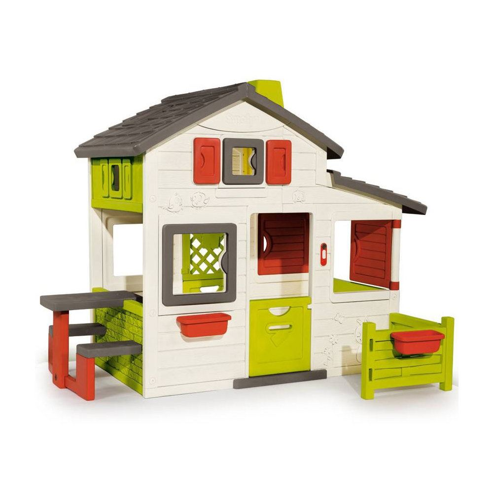 smoby friends childrens garden playhouse kids outdoor wendy house