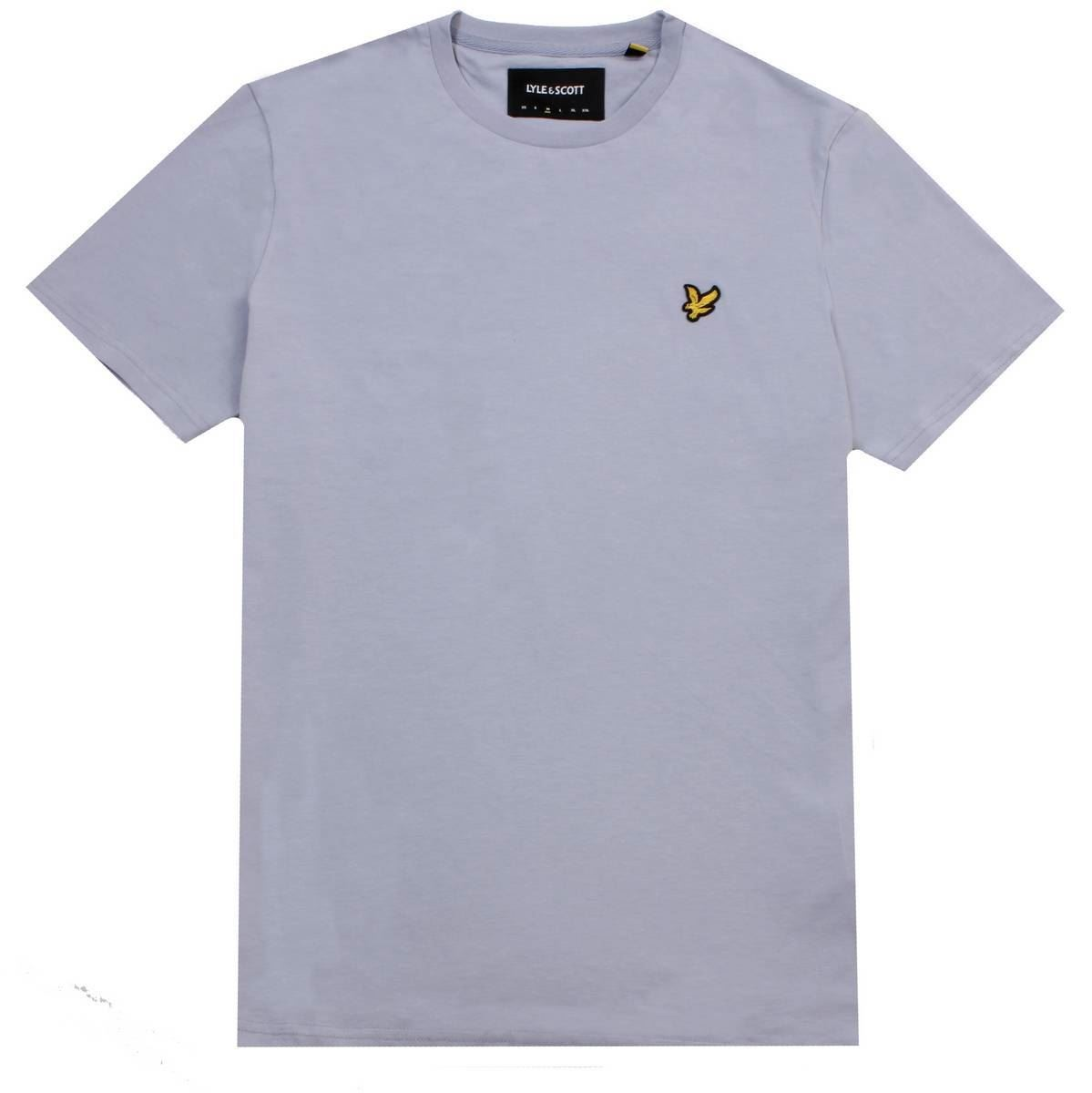 702319ae Lyle and Scott Mens Crew Neck T-Shirt - Cloud Blue | eBay