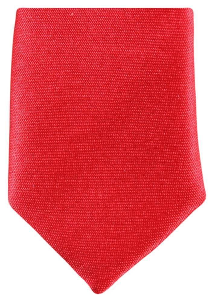 d9c56a2c1842 Knightsbridge Neckwear Mens Skinny Polyester Tie - Bright Red   eBay