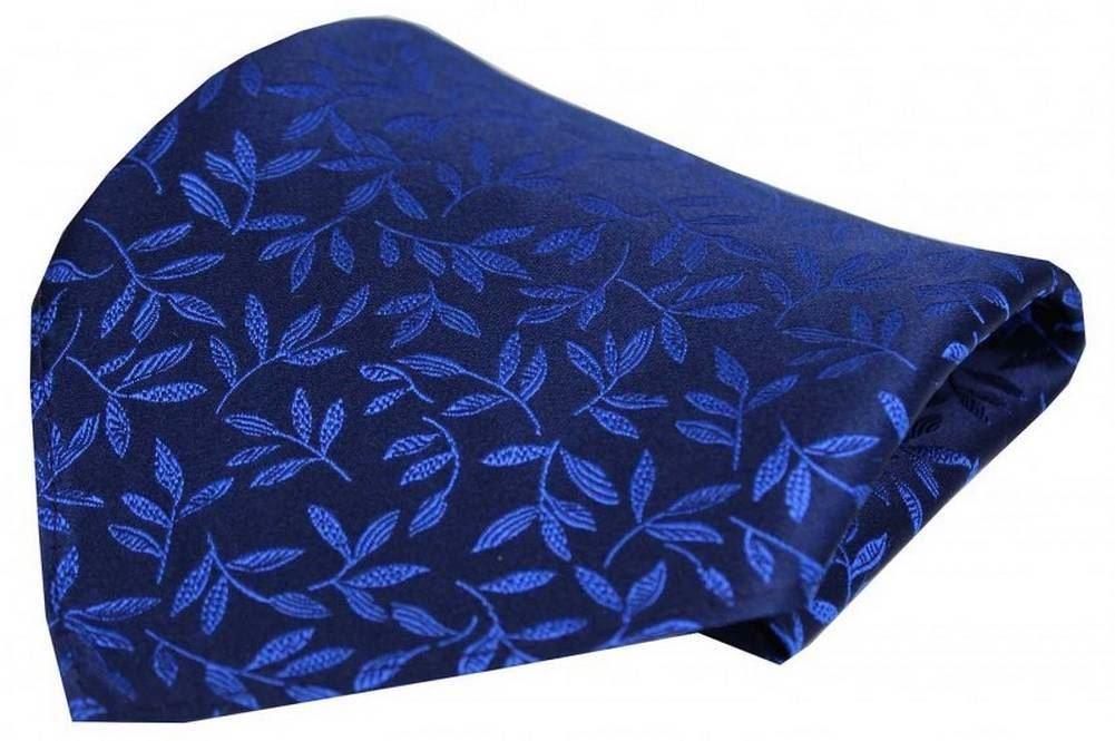 Red//Navy David Van Hagen Mens Neat Pattern Silk Pocket Square