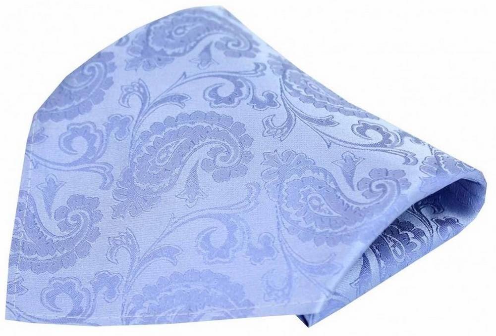 Sky Blue David Van Hagen Mens Edwardian Paisley Tie and Pocket Square Set