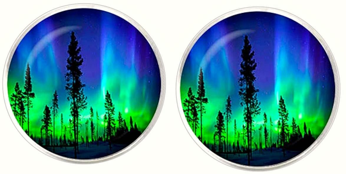 Handmade Plate Northern Lights Series in Blue Black and Purple