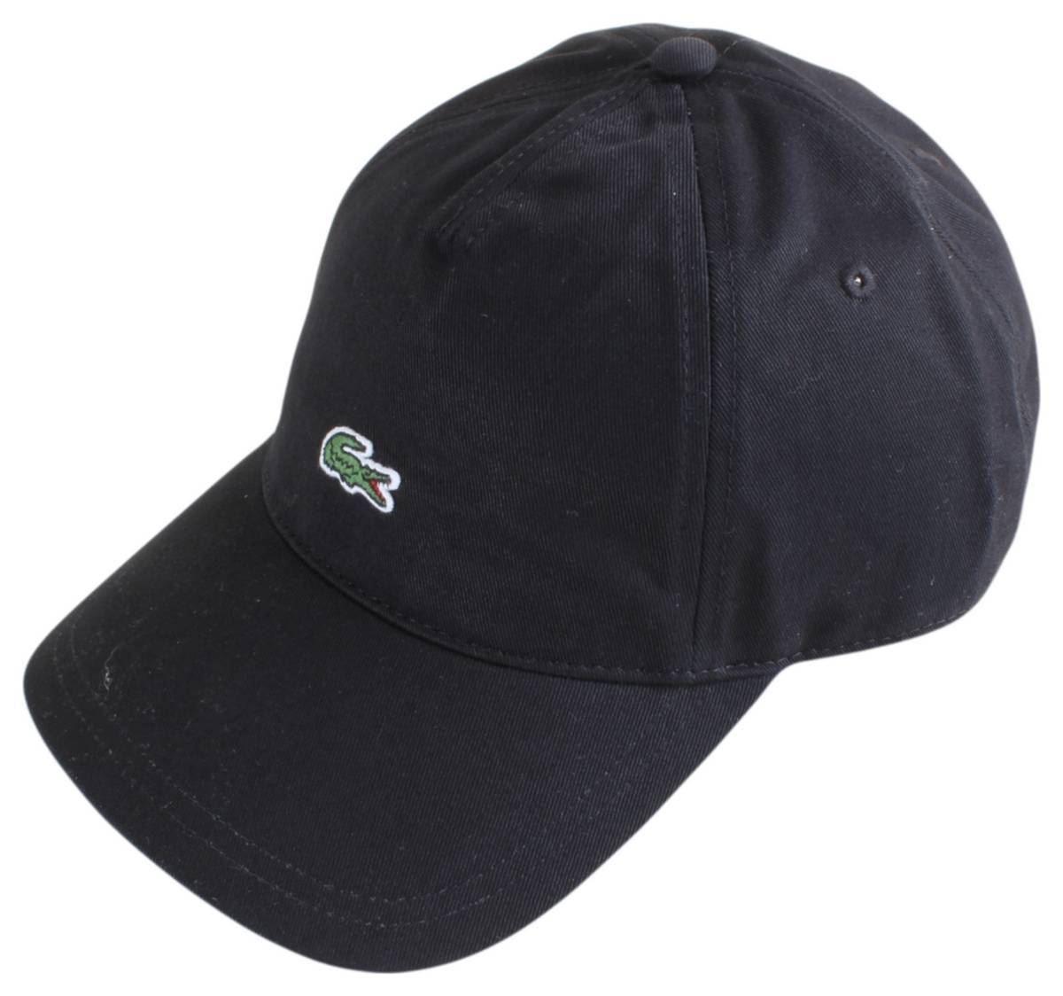 668b0a5ea Lacoste Mens Embroidered Crocodile Cap - Black 3614035355317