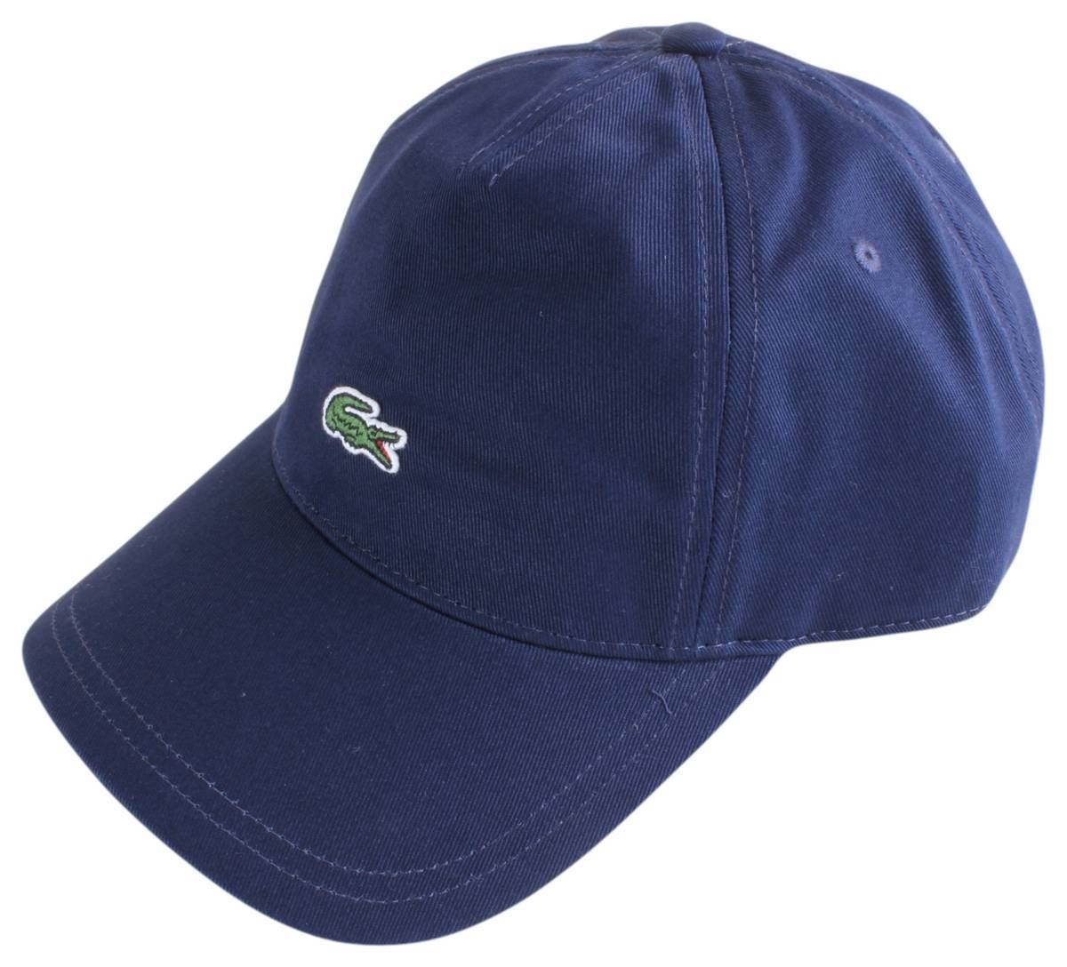 b39ef5b3808 Lacoste Mens Embroidered Crocodile Cap - Navy 3614035421012