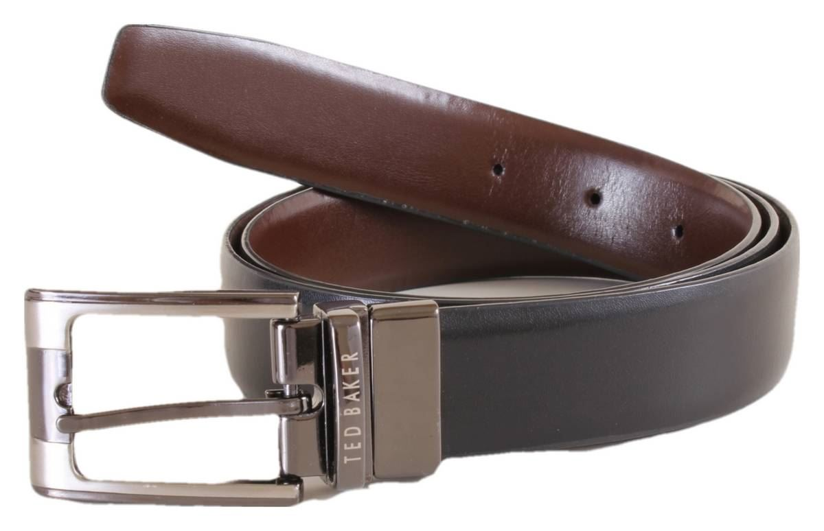 c74c5a1363f23 Ted Baker Mens Crafti Smart Leather Reversible Belt - Black Brown
