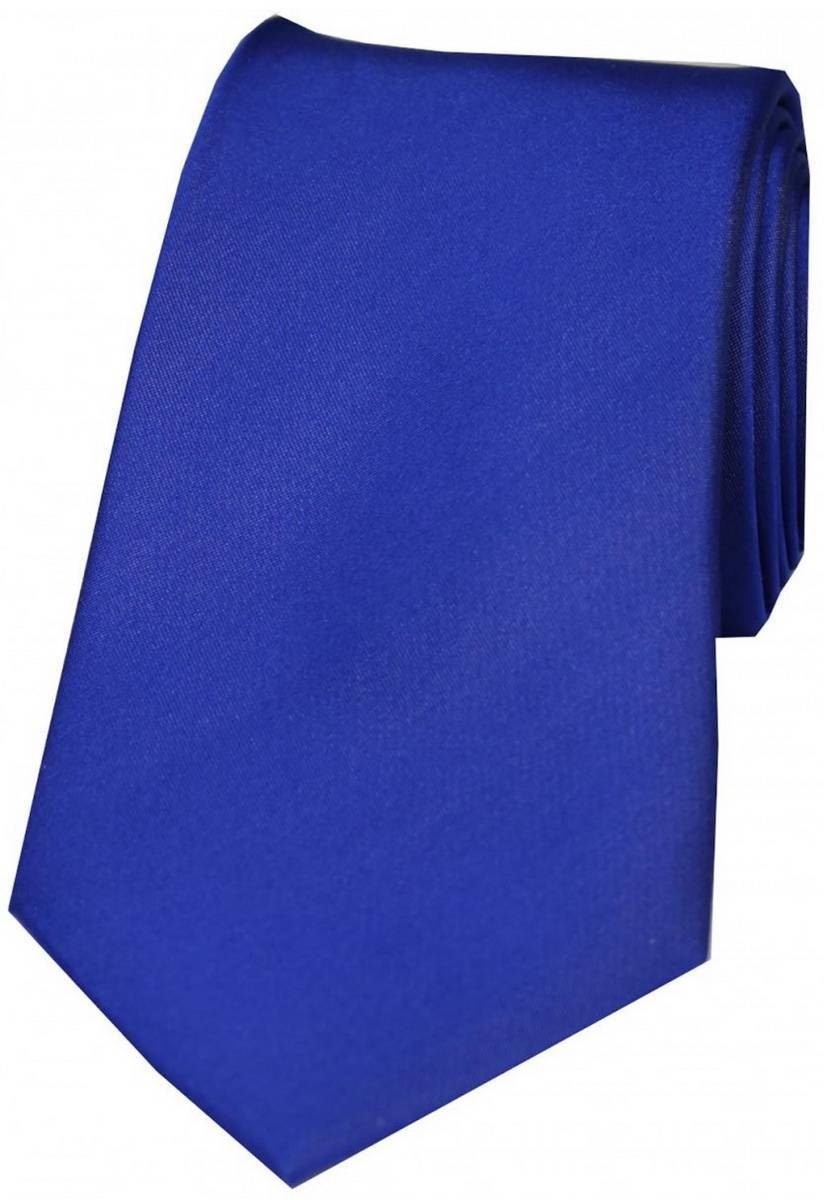 Azure Blue David Van Hagen Mens Plain Thin Satin Tie