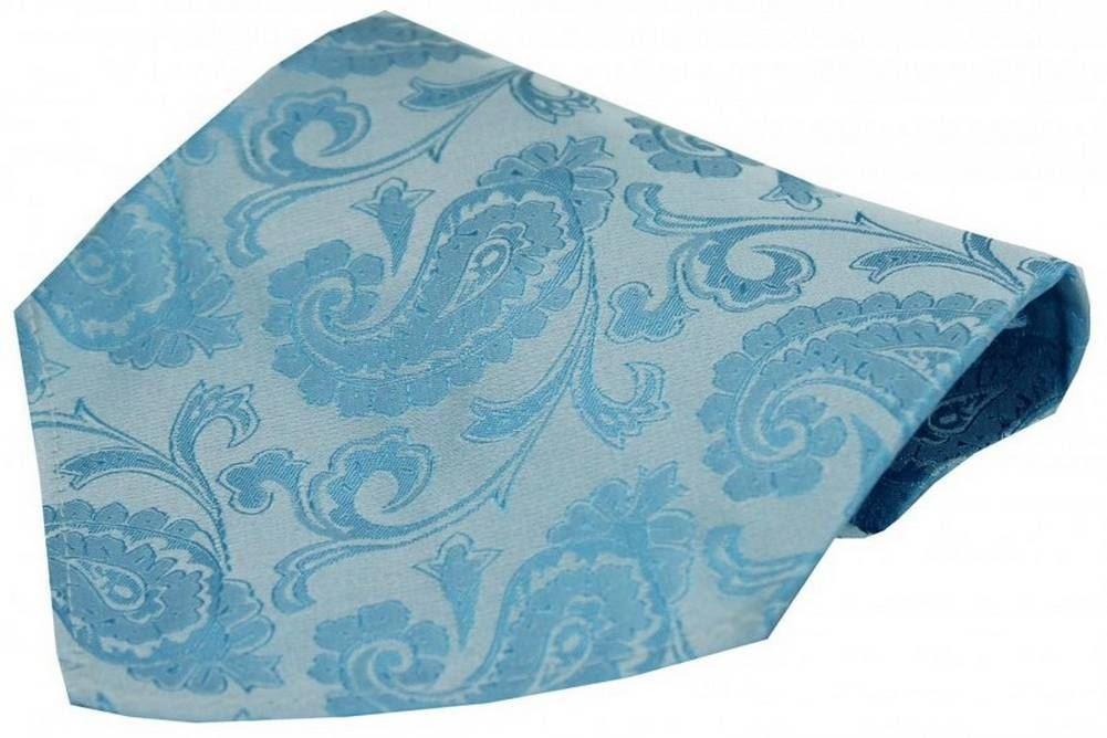 Blue David Van Hagen Mens Paisley Luxury Woven Silk Tie
