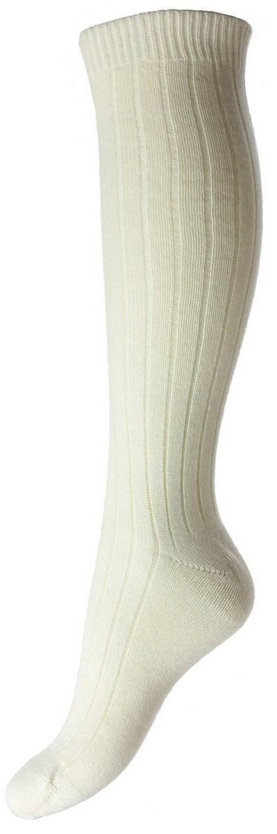 479ba92626e Pantherella Womens Tabitha Cashmere Rib Knee High Socks - Milk White ...