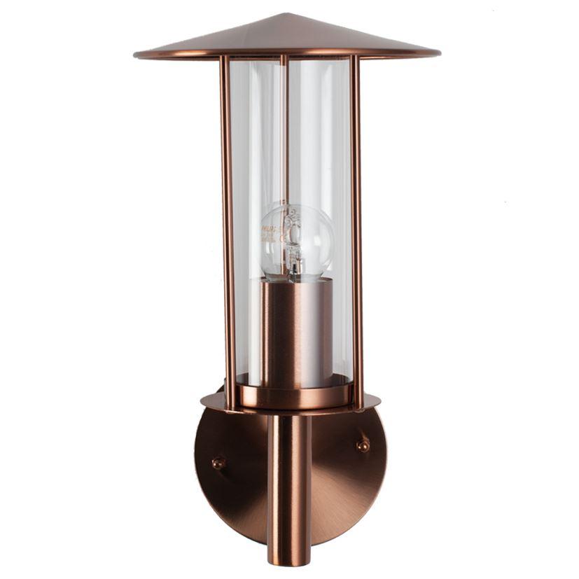 Copper Outdoor Chimney Wall Light Garden Porch Lighting Decor 5054790667368 Ebay