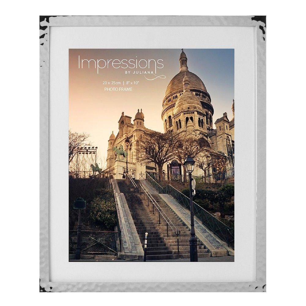 FS17580 Impressions Hammered Silverplated Frame 8/' x 10/'