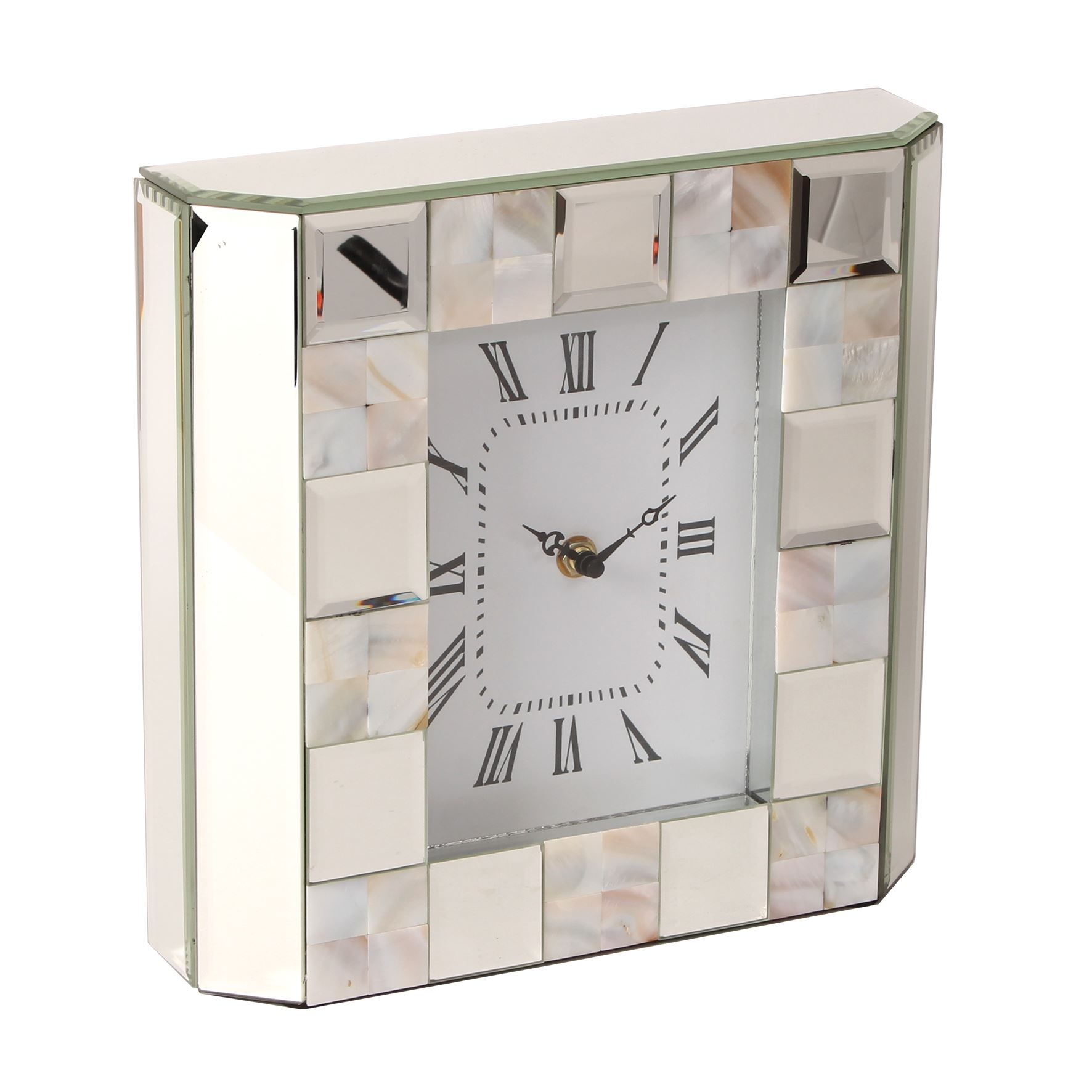 Of Gift Glass About Hestia Mother's Day Pearl Mother Details Clock Mirror Mantel fyYbgI76mv