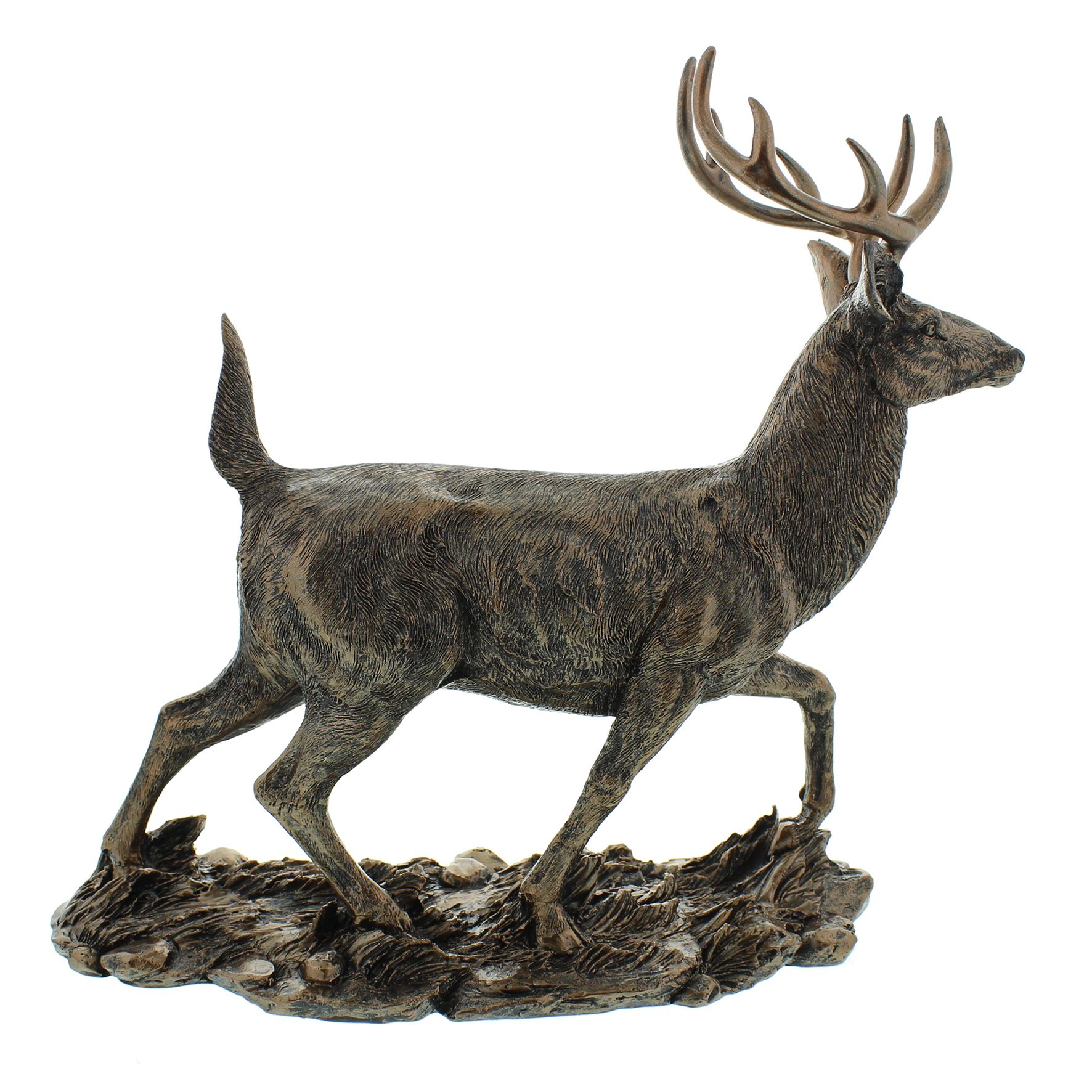 Leonardo Bronzed Reflections STAG /& DEER Resin Ornament New Boxed Gift LP43368