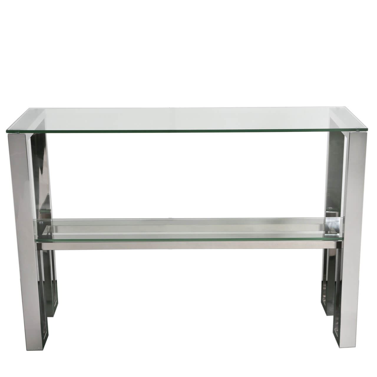 Stainless Steel Chrome Glass Console Table 5032203150317 Ebay