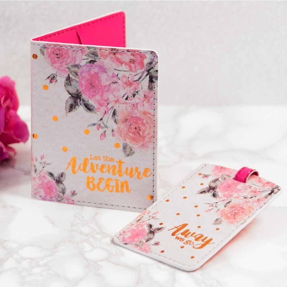 Beautiful Boutique Travel Set Passport Holder//Luggage Set