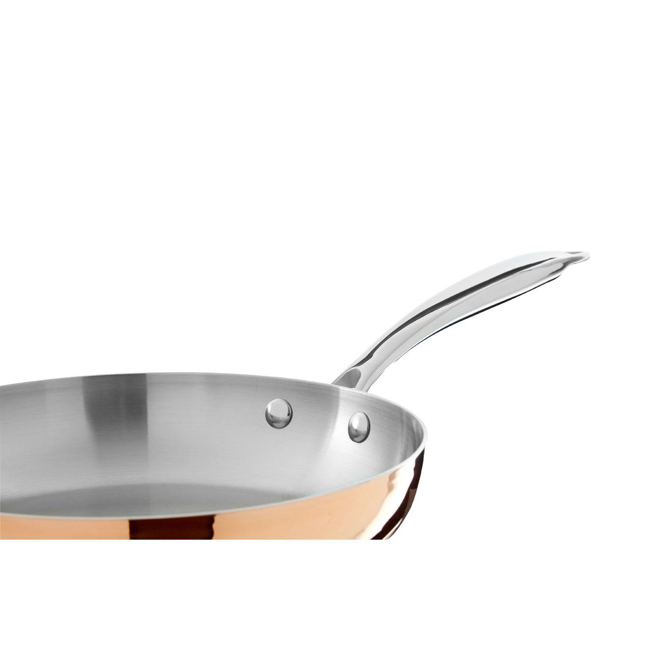 Stainless Steel Handle Copper // Tri Ply Big Living Minerva 28cm Frying Pan