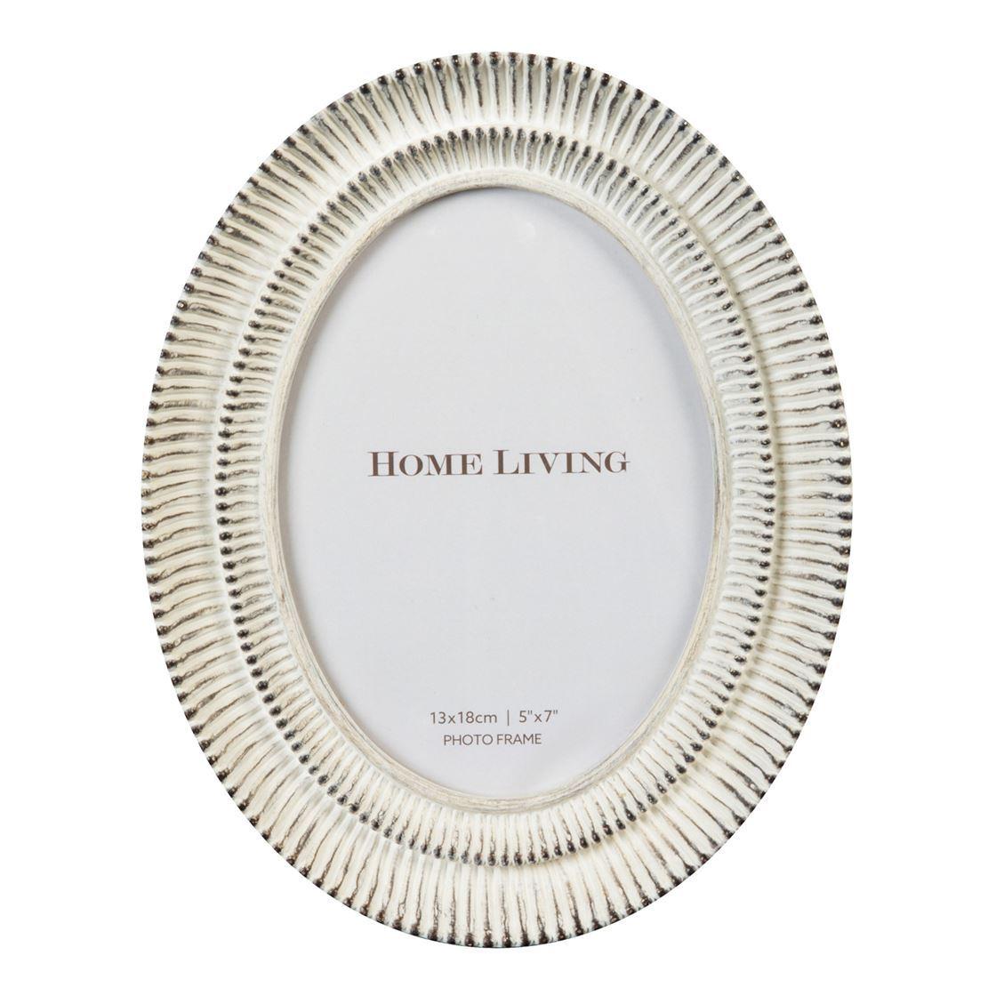 Botanica Cream Finish Oval Resin Frame 5 X 7 5017224791237 Ebay