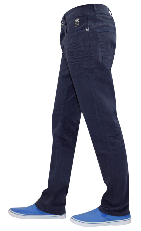 Crosshatch-Hombre-Denim-Jeans-Corte-Recto-Pantalones-Pantalones-todos-los-tamanos-de-la-cintura miniatura 9
