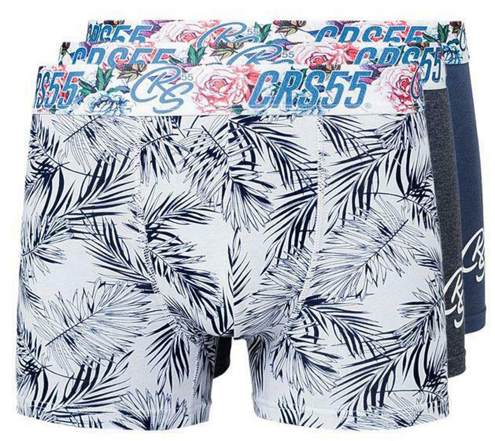 thumbnail 66 - Mens Crosshatch Boxers 3 Pack Shorts Underwear Underpants Trunks Multipack Sets