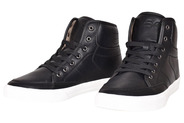 Crosshatch-Para-hombre-Tobillo-Alto-Zapatillas-Sneaker-Con-Cordones-Tapas-Planas-Botas-UK-Tamanos-7 miniatura 3
