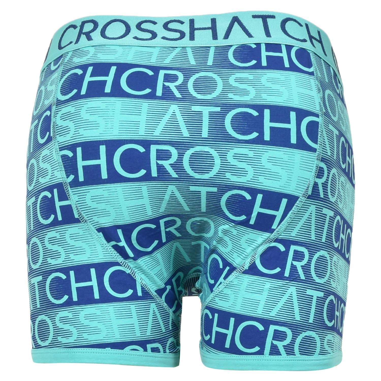 thumbnail 9 - Mens Crosshatch Boxers 3 Pack Shorts Underwear Underpants Trunks Multipack Sets