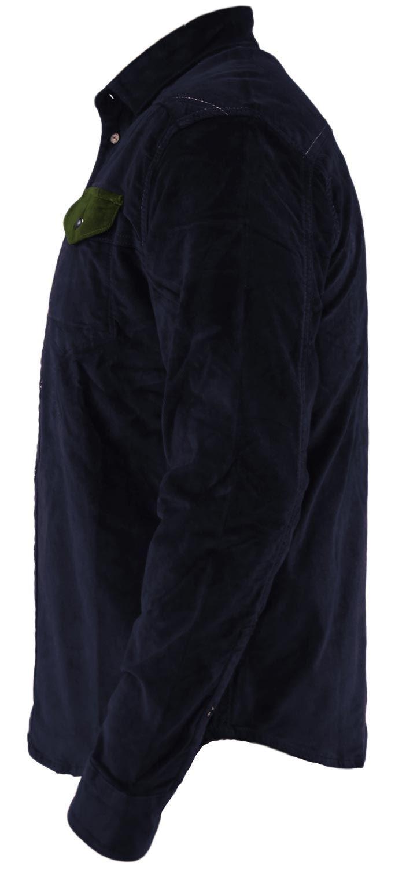 Mens-Corduroy-Cotton-Shirt-Long-Sleeve-Casual-Shirts-Jacksouth-Jacket-Top-S-2XL thumbnail 43