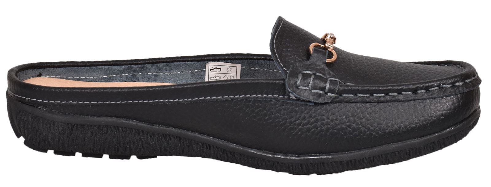 Ladies-Leather-Loafer-Mules-Comfort-Shoes-Womens-Slider-Moccasins-Shoes thumbnail 14