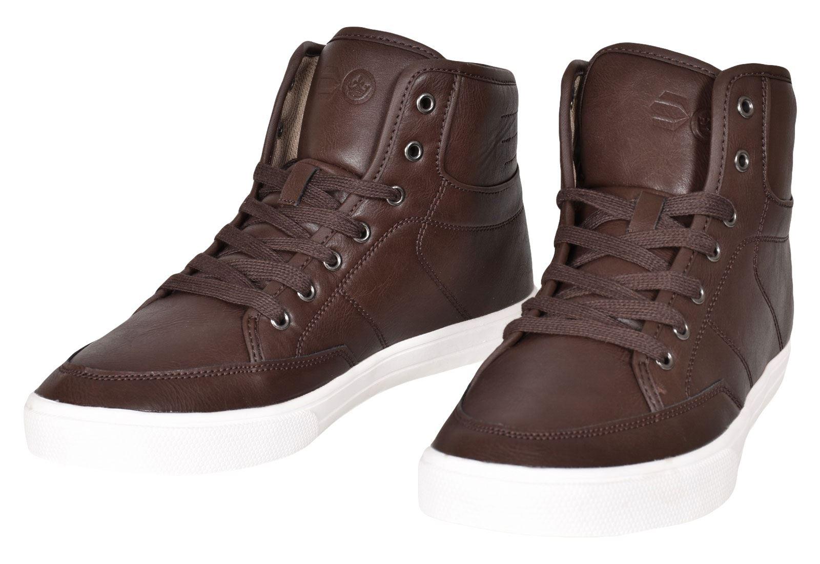 Crosshatch-Para-hombre-Tobillo-Alto-Zapatillas-Sneaker-Con-Cordones-Tapas-Planas-Botas-UK-Tamanos-7 miniatura 47