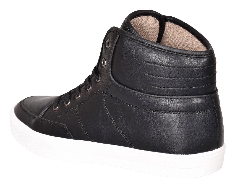 Crosshatch-Para-hombre-Tobillo-Alto-Zapatillas-Sneaker-Con-Cordones-Tapas-Planas-Botas-UK-Tamanos-7 miniatura 8