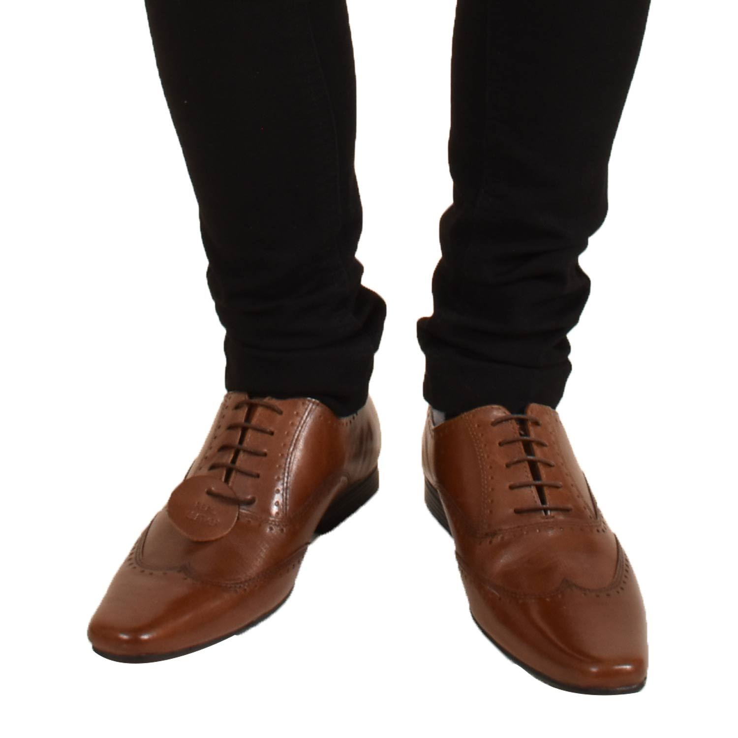 Mens-UK-Style-Leather-Lining-Formal-Office-Wedding-Smart-Work-Brogue-Shoes thumbnail 38