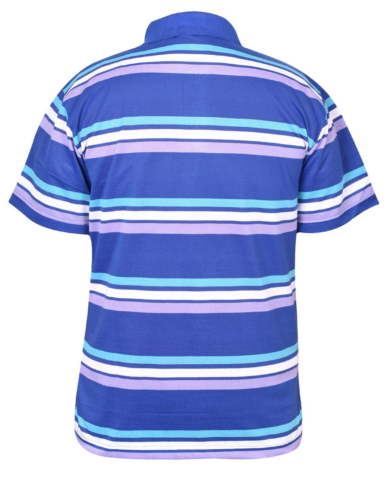 Mens-T-Shirts-Yarn-Dyed-Strip-Pocket-Polo-Shirt-Top-Multi-Colour-Size-M-3XL thumbnail 12