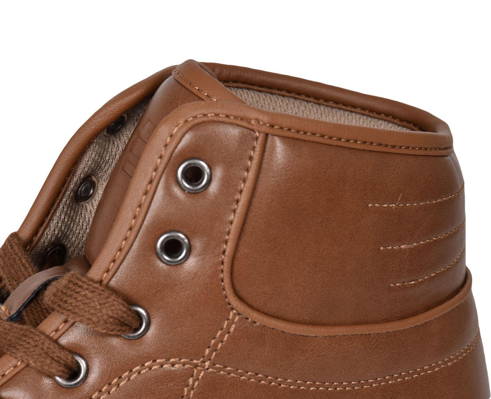 Crosshatch-Para-hombre-Tobillo-Alto-Zapatillas-Sneaker-Con-Cordones-Tapas-Planas-Botas-UK-Tamanos-7 miniatura 33