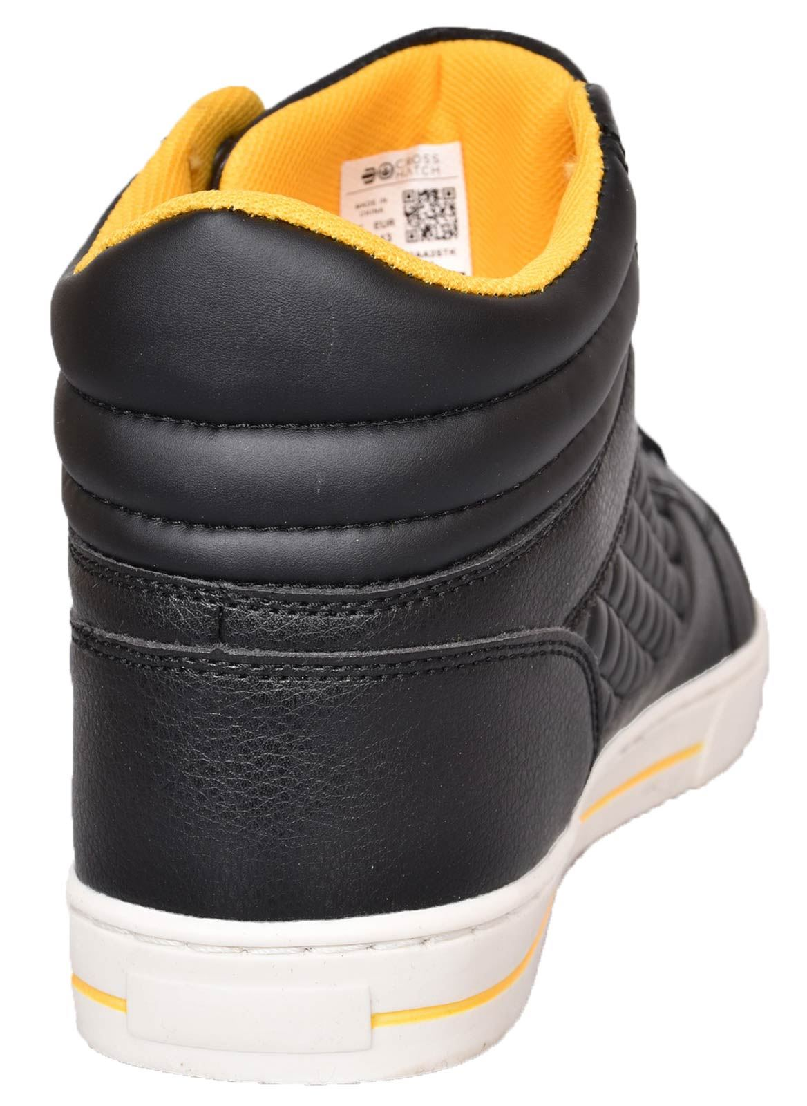 Mens-Trainers-Lace-up-Crosshatch-High-Tops-Ankle-Padded-Shoes-New-UK-Sizes-7-12 thumbnail 6