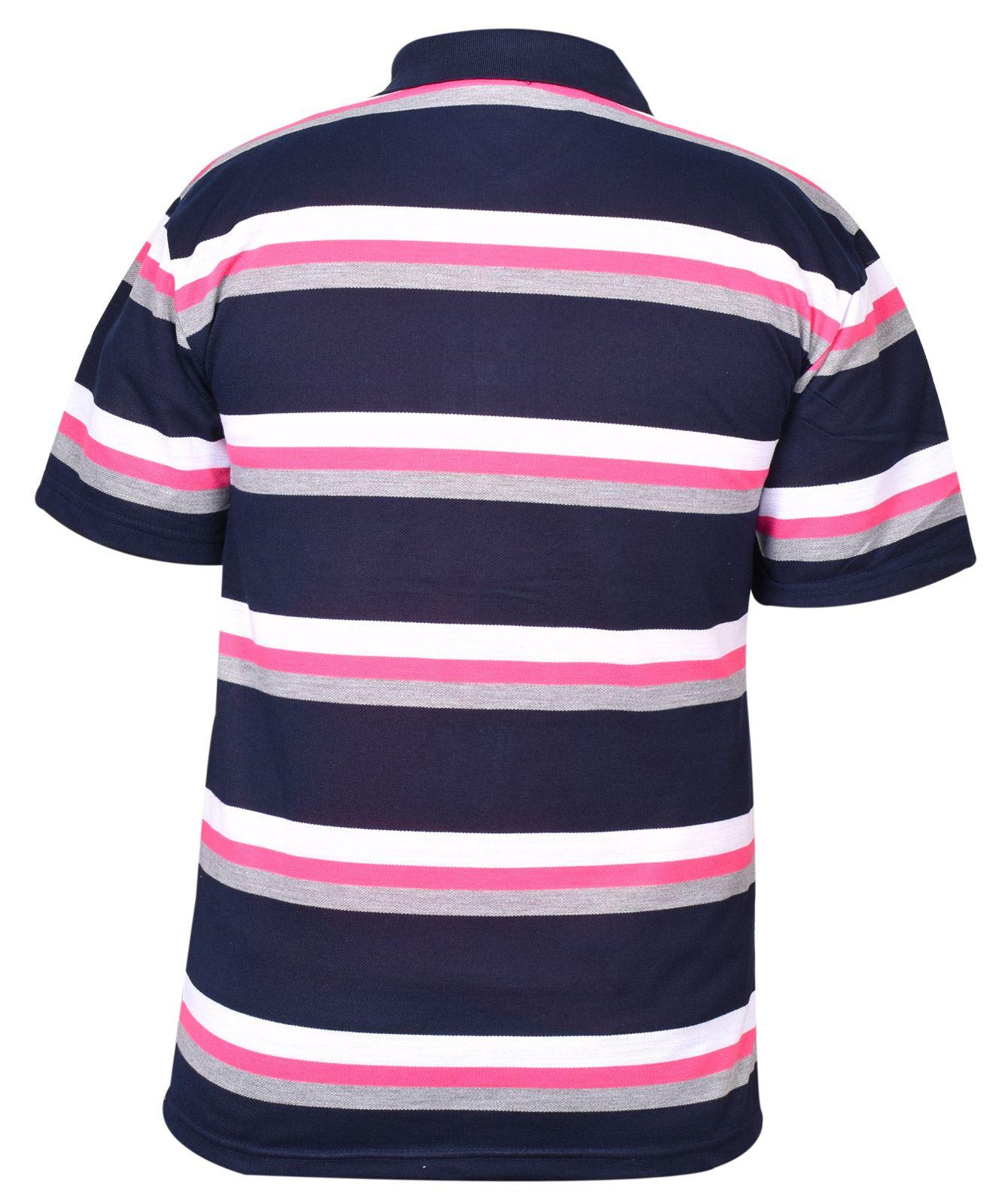 Mens-T-Shirts-Yarn-Dyed-Strip-Pocket-Polo-Shirt-Top-Multi-Colour-Size-M-3XL thumbnail 40