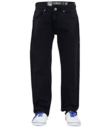 Mens-Regular-Fit-Jeans-Straight-Leg-Stretch-Denim-Cotton-Pants-Casual-Trousers thumbnail 3