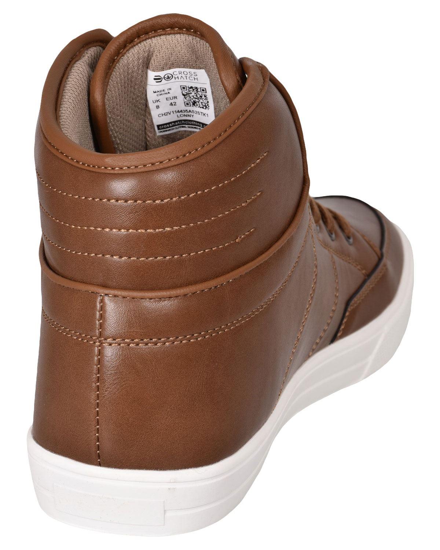 Crosshatch-Para-hombre-Tobillo-Alto-Zapatillas-Sneaker-Con-Cordones-Tapas-Planas-Botas-UK-Tamanos-7 miniatura 31