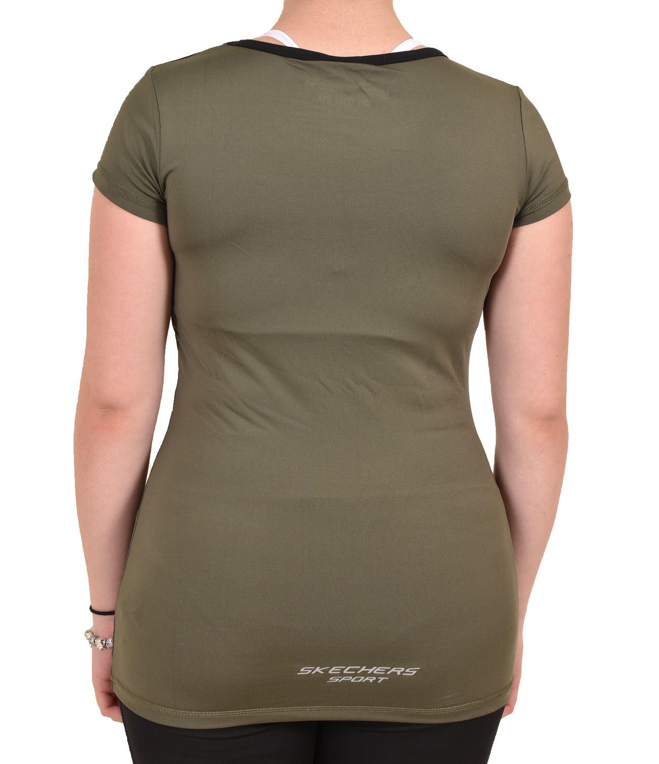 Camiseta-para-mujer-Skechers-Secado-Rapido-Top-senoras-de-Deportes-Activewear-Gimnasio-Fitness-Dance miniatura 9