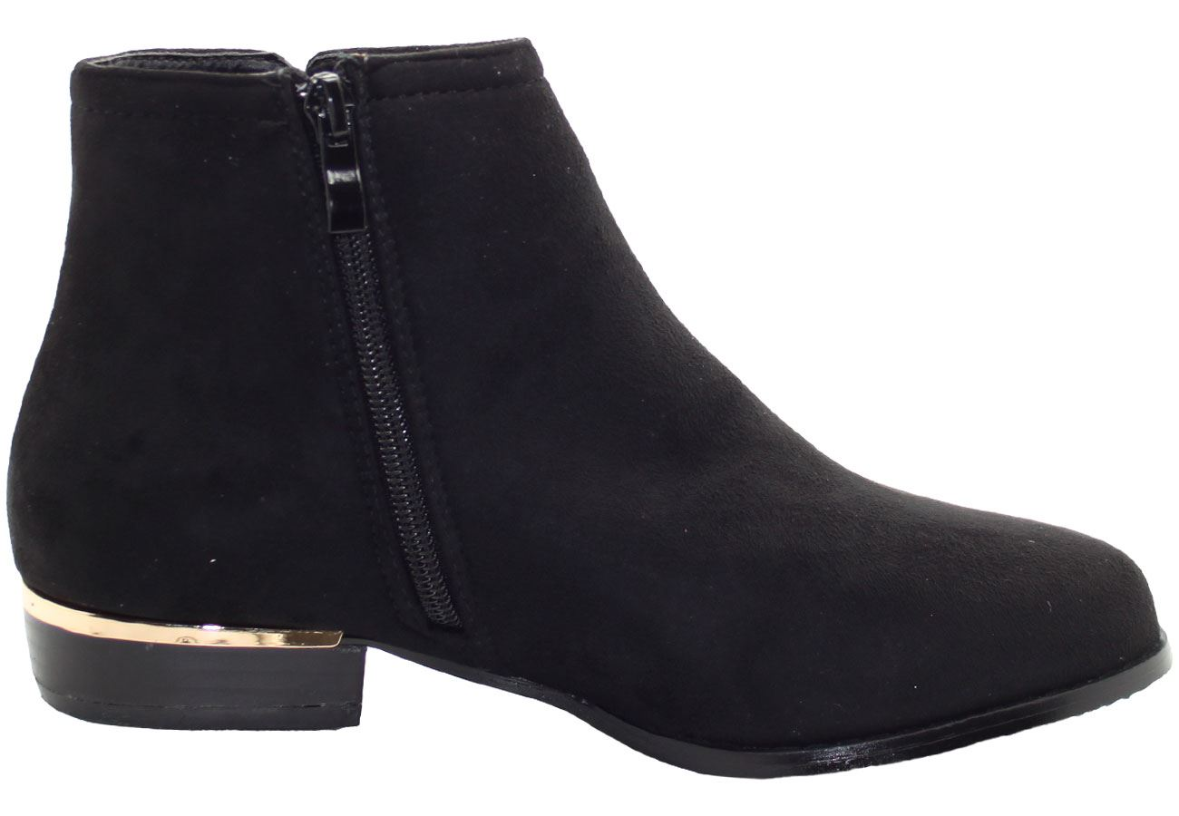 New-Women-Chelsea-Ankle-Boots-Winter-Block-Heel-Ladies-Biker-Style-Boots thumbnail 33