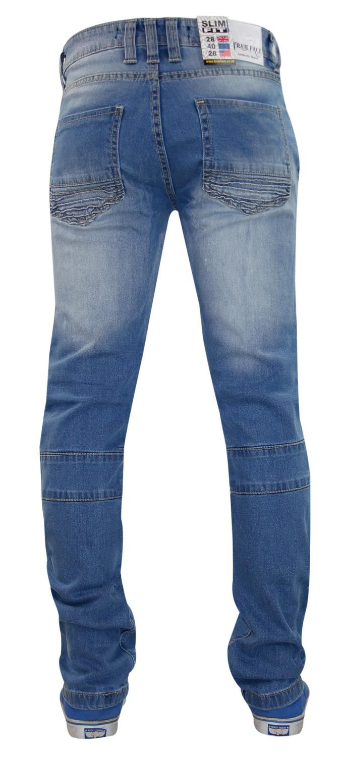 Mens-Ripped-Jeans-Slim-Fit-Distressed-Denim-Biker-Pants-Casual-Cuffed-Trousers thumbnail 5