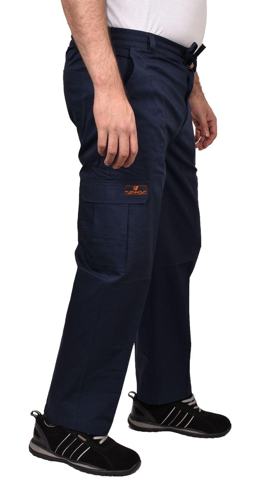 Para-Hombre-De-Carga-Combate-Pantalones-De-Trabajo-Bolsillos-Patrulla-Tactico-Pro-Algodon-Pantalones miniatura 13