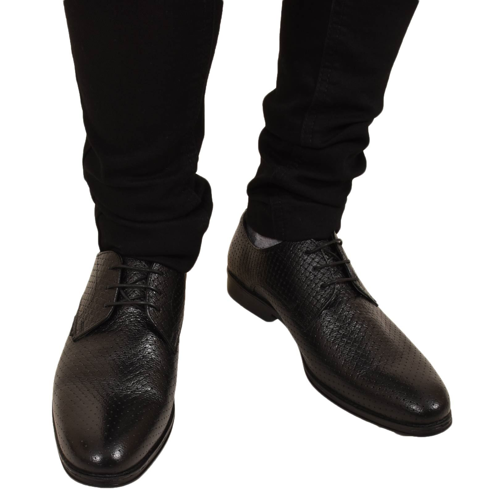 Mens-UK-Style-Leather-Lining-Formal-Office-Wedding-Smart-Work-Brogue-Shoes thumbnail 27