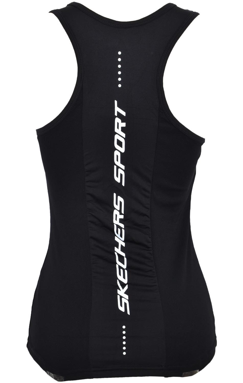 Skechers-senoras-Sujetador-Deportivo-Gimnasio-Atletico-textura-de-malla-Top-Yoga-Chaleco-Active-Wear miniatura 3