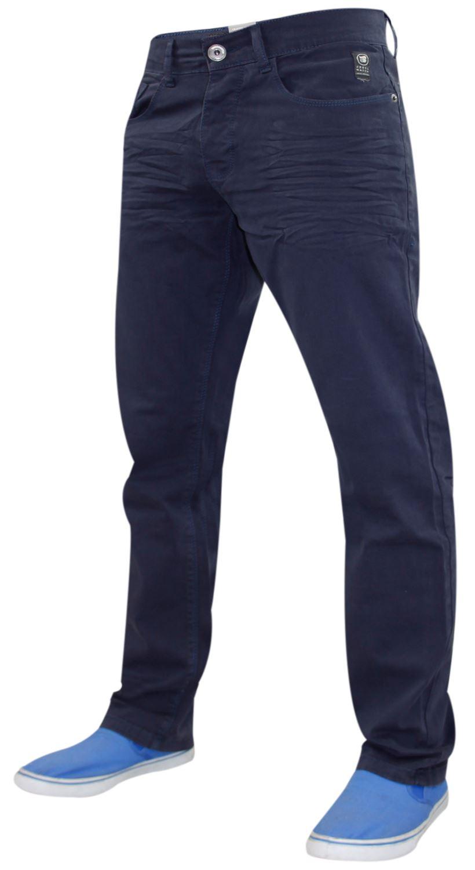 Crosshatch-Hombre-Denim-Jeans-Corte-Recto-Pantalones-Pantalones-todos-los-tamanos-de-la-cintura miniatura 7