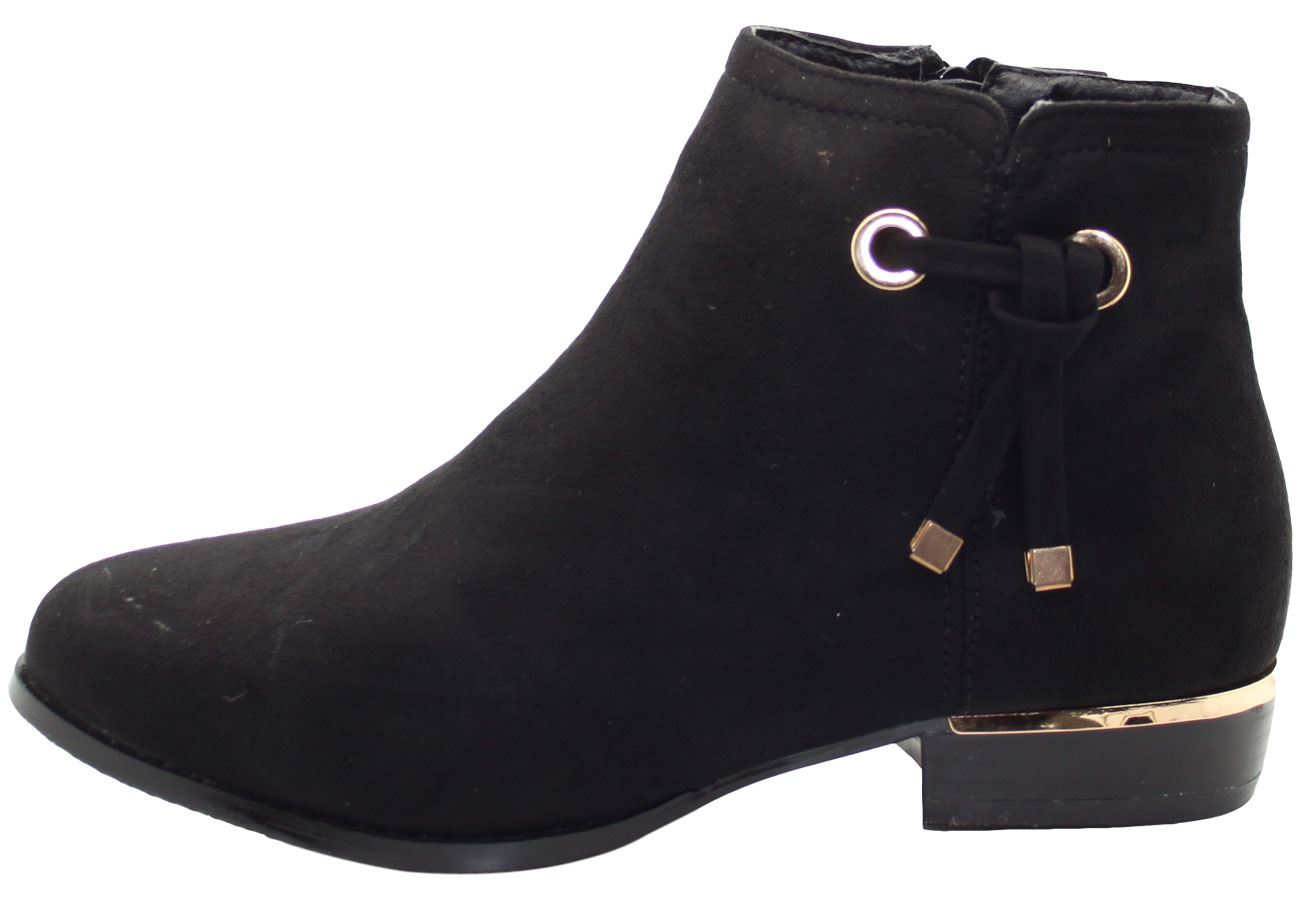 New-Women-Chelsea-Ankle-Boots-Winter-Block-Heel-Ladies-Biker-Style-Boots thumbnail 32