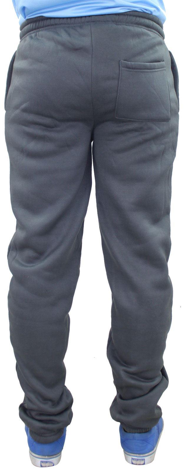 Mens-Women-Plain-Fleece-Joggers-Bottoms-Jogging-Pant-Gym-Fitness-Sports-Trousers thumbnail 5