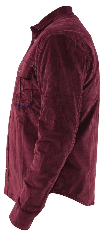 Mens-Corduroy-Cotton-Shirt-Long-Sleeve-Casual-Shirts-Jacksouth-Jacket-Top-S-2XL thumbnail 31