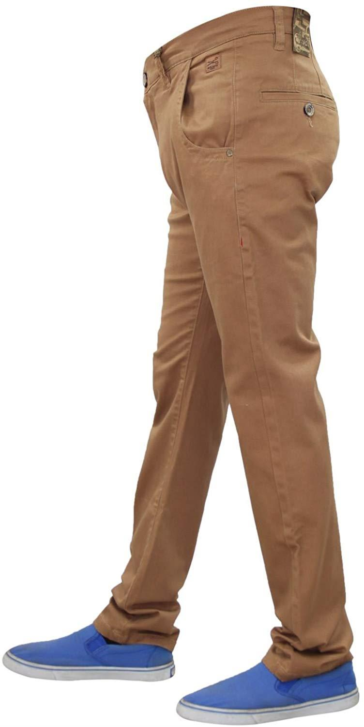 Men-Chinos-Regular-Fit-Jeans-Cotton-Stretch-Casual-Pants-Trousers-All-Waist-Size thumbnail 17