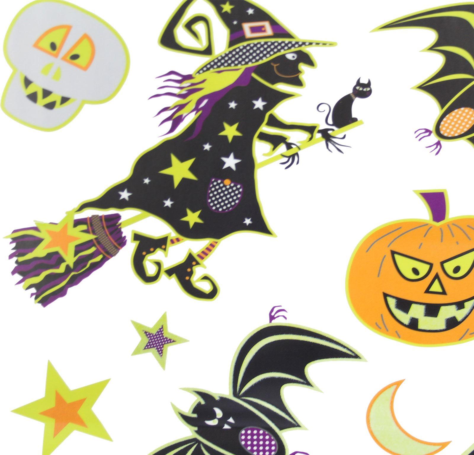 Halloween Spooky Scary Vinyl Glow Dark Stickers Room